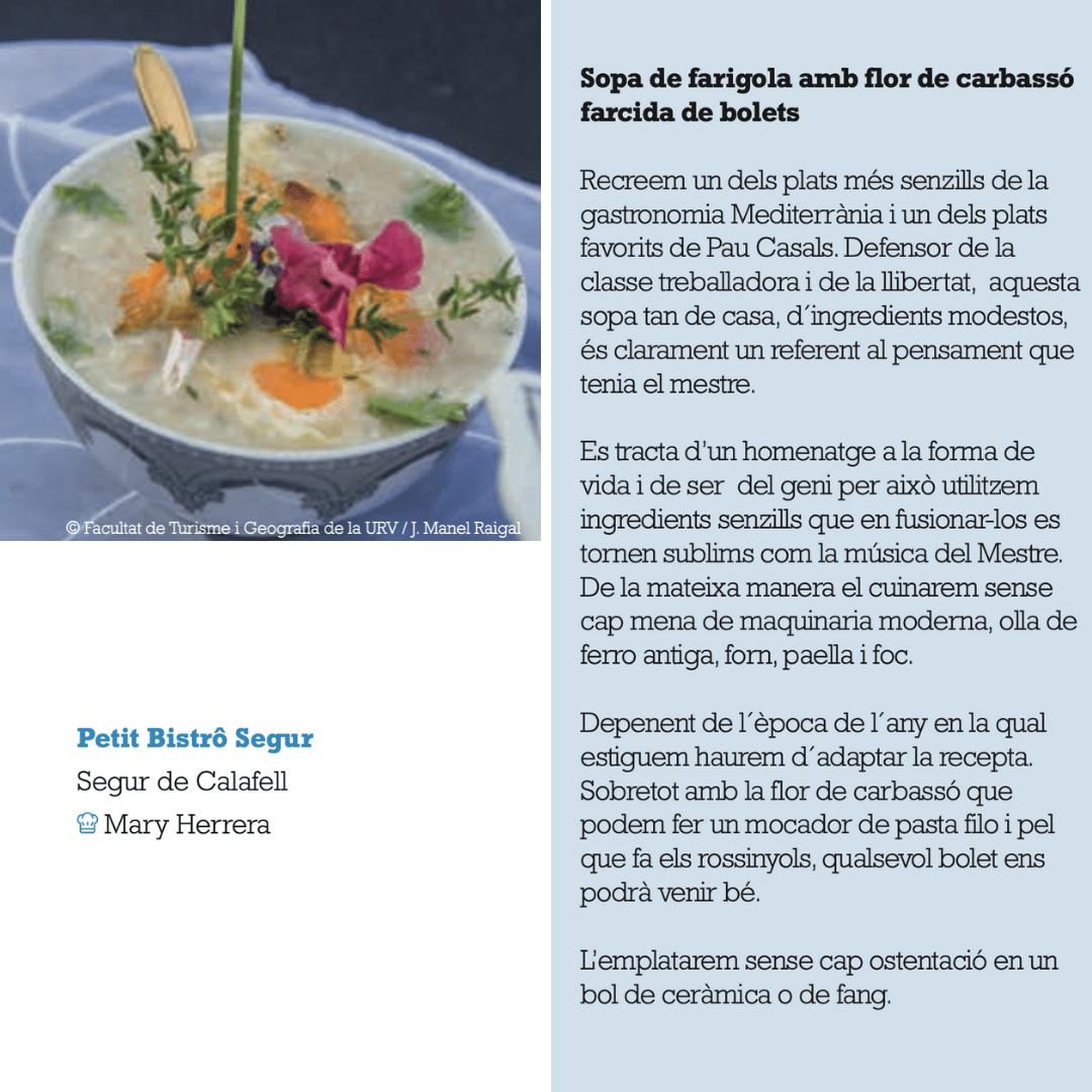 Sopa de Farigola amb flor de carbassó